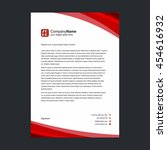 business letter with red shapes | Shutterstock .eps vector #454616932