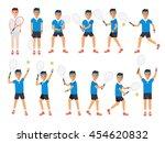 tennis sport athletes  players... | Shutterstock .eps vector #454620832