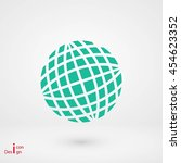 globe earth icon | Shutterstock .eps vector #454623352