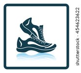 icon of fitness sneakers.... | Shutterstock .eps vector #454623622
