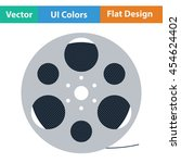 film reel icon. flat color...
