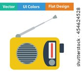 radio icon. flat color design....