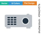video projector icon. flat...