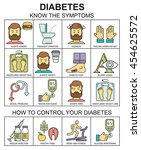 diabetes symptoms and control ... | Shutterstock . vector #454625572