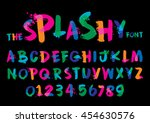 vector of stylized splashy font ... | Shutterstock .eps vector #454630576