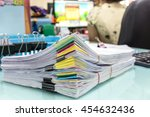 stacks of paper | Shutterstock . vector #454632436