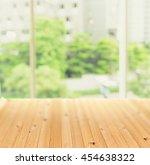 pine wood floor beside big... | Shutterstock . vector #454638322