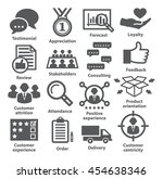 business management icons. pack ...   Shutterstock . vector #454638346