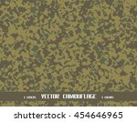 vector camouflage pattern | Shutterstock .eps vector #454646965