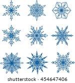snowflake doodle graphic hand...   Shutterstock .eps vector #454647406