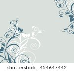 floral background with... | Shutterstock .eps vector #454647442