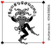 joker card background with... | Shutterstock .eps vector #454658806
