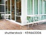 beautiful interior white chair... | Shutterstock . vector #454663306