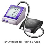 blood pressure monitor kit... | Shutterstock .eps vector #454667386