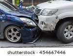car crash from car accident on... | Shutterstock . vector #454667446