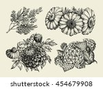 flowers. hand drawn sketch of...   Shutterstock .eps vector #454679908