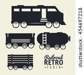 railroad train isolated icon...   Shutterstock .eps vector #454697218