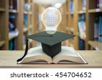 education concept lamp shap... | Shutterstock . vector #454704652