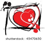 abstract valentine's day heart | Shutterstock .eps vector #45470650