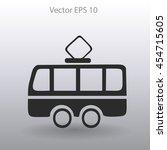 flat tram icon. vector   Shutterstock .eps vector #454715605