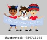 fan of mongolia national...   Shutterstock .eps vector #454718398