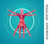 da vinci sign  abstract science ... | Shutterstock .eps vector #454719316