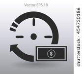 time is money vector... | Shutterstock .eps vector #454720186