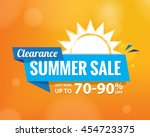 summer sale heading fun and... | Shutterstock .eps vector #454723375