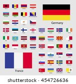 european flags with the names...