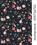 trendy seamless floral pattern... | Shutterstock .eps vector #454726702
