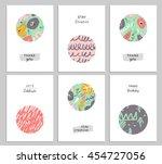 trendy creative hand drawn... | Shutterstock . vector #454727056