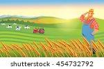 vector illustration of happy...   Shutterstock .eps vector #454732792