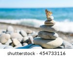 Smooth Stones Stacked On Each...