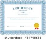 certificate diploma vector... | Shutterstock .eps vector #454745656
