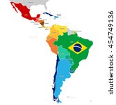 Постер, плакат: Colorful Countries of Latin