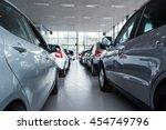 new cars at dealer showroom | Shutterstock . vector #454749796