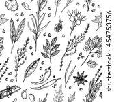 hand drawn vintage background   ... | Shutterstock .eps vector #454753756