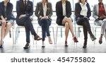 management career achievement... | Shutterstock . vector #454755802