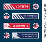 american election badges and... | Shutterstock .eps vector #454760548