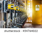 control valve in oil and gas... | Shutterstock . vector #454764022