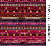 ethnic seamless pattern. boho... | Shutterstock .eps vector #454772536