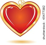 gold trinket souvenir with love ... | Shutterstock .eps vector #45477382