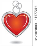 silver trinket souvenir with... | Shutterstock .eps vector #45477394