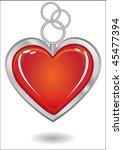silver trinket souvenir with... | Shutterstock .eps vector #45477394