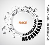 racing tire background  vector... | Shutterstock .eps vector #454775542