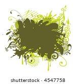 grunge floral border background | Shutterstock .eps vector #4547758