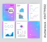 six page of vector modern... | Shutterstock .eps vector #454779502