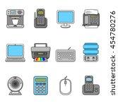set of various office equipment ...   Shutterstock .eps vector #454780276