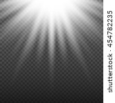 white glowing light burst... | Shutterstock .eps vector #454782235