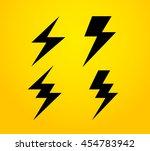 thunder silhouette vector icon | Shutterstock .eps vector #454783942